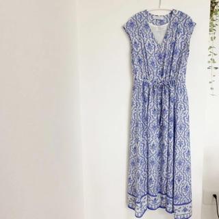 Simplicite - SIMPLICITE  マキシワンピース フレンチ袖