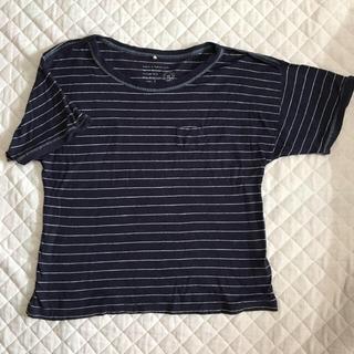 インメルカート(inmercanto)の【使用頻度少なめ】インメルカート ボーダーTシャツ(Tシャツ(半袖/袖なし))