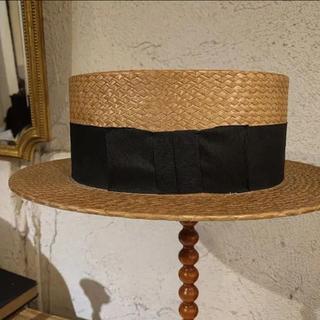 ネストローブ(nest Robe)のvintage  カンカン帽(麦わら帽子/ストローハット)