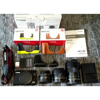 Canon - canon eos m100 レンズ三本セット ミラーレス