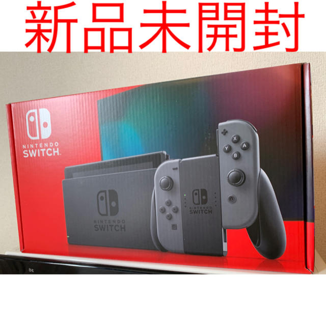 Nintendo Switch(ニンテンドースイッチ)のNintendo Switch 新品 任天堂スイッチ 本体 グレー ニンテンドウ エンタメ/ホビーのゲームソフト/ゲーム機本体(家庭用ゲーム機本体)の商品写真