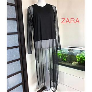 ZARA - シースルーワンピース☆ZARA☆着方 色々♪(´∀`*)