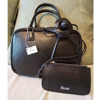 ルネ(René)の新品❇️ ルネ ❇️Bag ハンドバッグ アリアXS コインケース付き 黒(ハンドバッグ)