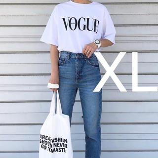 ZARA - ゆったり 英字 SNS 人気 XL 大きいサイズ トップス レディースTシャツ