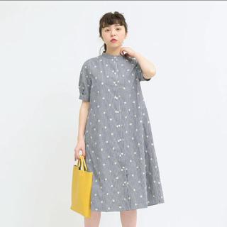 child woman/先染ブロード刺繍 ワンピース