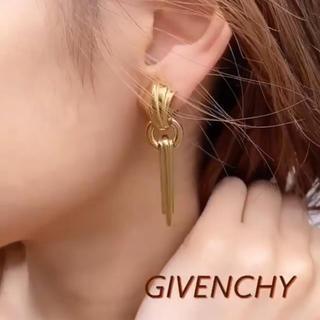 GIVENCHY - GIVENCHY vintage シェルモチーフロングイヤリング ゴールド