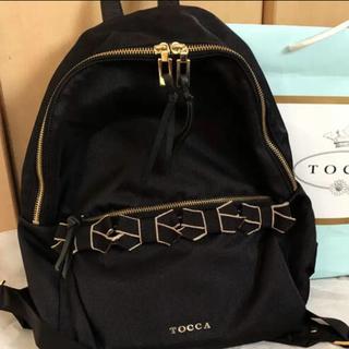 トッカ(TOCCA)のTOCCA トッカ リュック バックパック リボン ブラック(リュック/バックパック)
