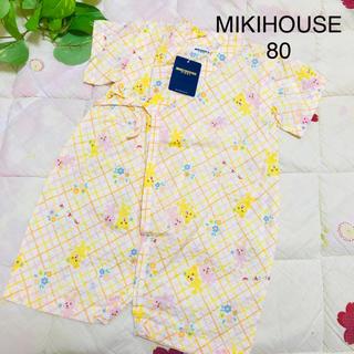 ミキハウス(mikihouse)の【新品】ミキハウス 甚平 ロンパース 80(甚平/浴衣)