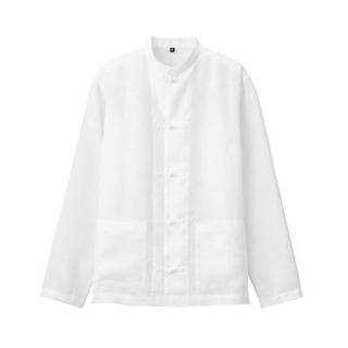 ムジルシリョウヒン(MUJI (無印良品))の無印良品 チャイナシャツ L〜XL 新品(シャツ)