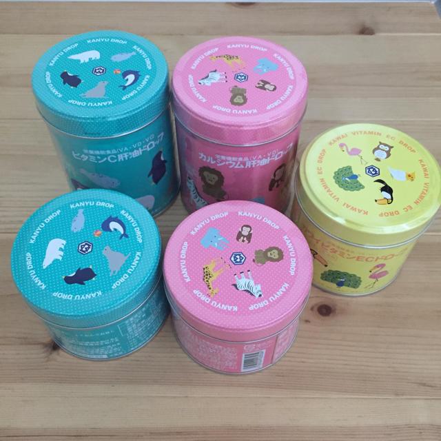 【新品】カワイ 肝油ドロップ 5缶セット 食品/飲料/酒の健康食品(ビタミン)の商品写真
