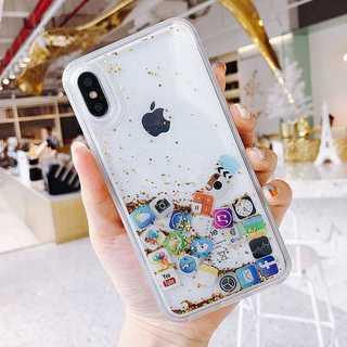 iPhone ケース カバー アプリアイコン ゴールド XR
