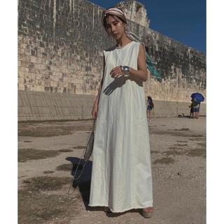 Ameri VINTAGE - ameri vintage  DAMAGE HEM TWILL DRESS