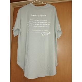 新品☆バックプリントTシャツ ピスタチオグリーン Mサイズ