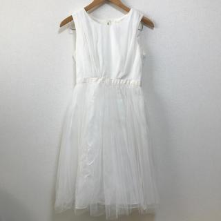 エメ(AIMER)のAIMER ドレス 白 結婚式 二次会 袖なし(ウェディングドレス)