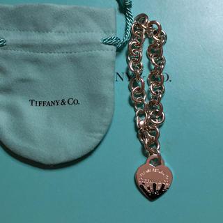 Tiffany & Co. - 未使用☆ティファニースプラッシュハートタグブレスレットMサイズ