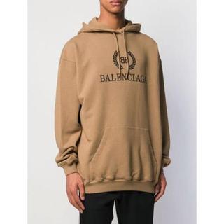 バレンシアガ(Balenciaga)のBALENCIAGA ロゴフーディー ベージュ(パーカー)