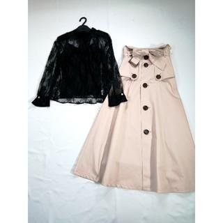 SCOT CLUB - 総額30840円 総レーストップス、日本製スカート 2点 セット販売