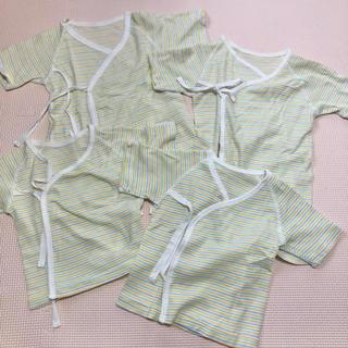 西松屋 - 新生児 短肌着 コンビ肌着【ベビー肌着4点】50〜60cm まとめ売り