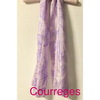 クレージュ(Courreges)の❤️ Courreges ❤︎ クレージュ ❤️ シルク スカーフ ストール(バンダナ/スカーフ)