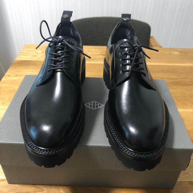 新品ダブルエイチ 超希少Zソール 干場仕様 プレーントゥ サイズ7  25.0 メンズの靴/シューズ(ドレス/ビジネス)の商品写真