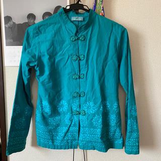 titicaca - チチカカ グリーン チャイナシャツ