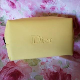 Dior - ディオール ロゴ ポーチ イエロー ノベルティ