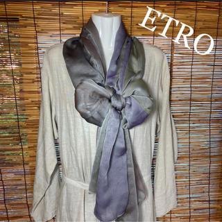 エトロ(ETRO)のエトロ ふわふわ シフォン 超大判 ストール(ストール/パシュミナ)