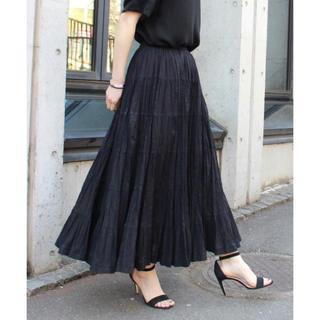 IENA - マリハ MARIHA 草原の虹のスカート ブラック