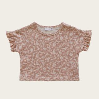 キャラメルベビー&チャイルド(Caramel baby&child )の新品未使用 Jamie Kay  Tシャツ ピンク 小花柄 1Y  80サイズ(Tシャツ)