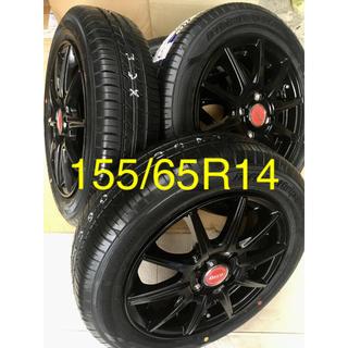 Goodyear - 155.65.14  新品タイヤとかなり美品中古ホイールと新品ホイールナット付き