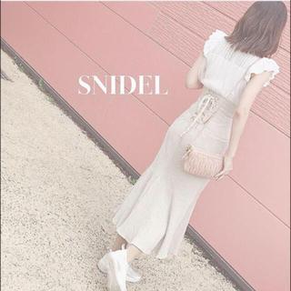 snidel - snidel スナイデル  コットンリネンマーメイドスカート