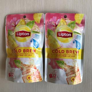 【新品未開封】Lipton 水出し紅茶🍍パイナップル&ハイビスカス🌺×2袋