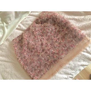 リリーブラウン(Lily Brown)のLily Brown リリーブラウン スカート 刺繍 シースルー(ミニスカート)