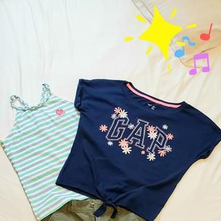 ギャップキッズ(GAP Kids)の新品未使用❗140㎝GAP刺繍半袖カットソー2点セット(Tシャツ/カットソー)