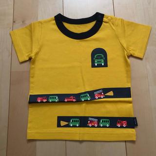 ベルメゾン(ベルメゾン)の☆ベルメゾン 新品未使用 はたらくのりもの 半袖Tシャツ 90cm☆(Tシャツ/カットソー)