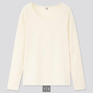 ユニクロ(UNIQLO)のリブラウンドネックT(Tシャツ(長袖/七分))