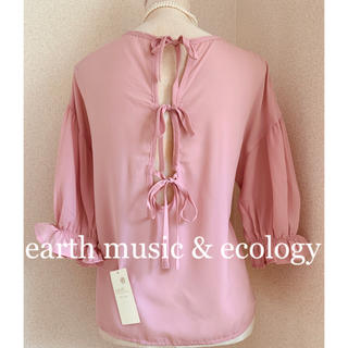 earth music & ecology - earth music & ecology  タグ付きリボン プルオーバー