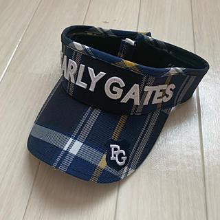 PEARLY GATES - 新品♡9,460円【パーリーゲイツ】サンバイザー  チェック柄