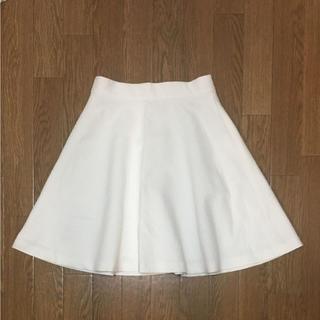 アウラアイラ(AULA AILA)のアウラアイラ フレアスカート 白 ホワイト(ひざ丈スカート)