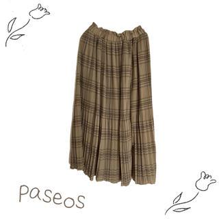 しまむら - 【SALE】パシオス チェック プリーツ ロングスカート しまむら