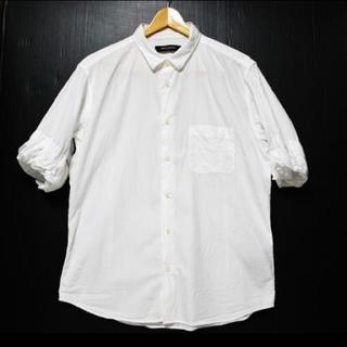 ナノユニバース(nano・universe)のナノユニバース ホワイト半袖シャツ オーバーサイズシルエット(シャツ)