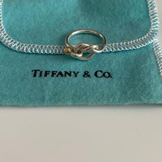 ティファニー(Tiffany & Co.)の値下げ!Tiffany&co. ノットリング シルバー K18(リング(指輪))