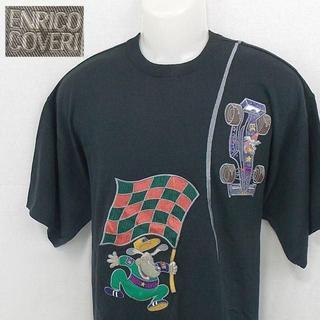 エンリココベリ(ENRICO COVERI)の【ENRICO COVERI】 美品 エンリココベリ 半袖セーター 日本製 L(ニット/セーター)