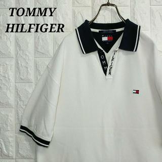 TOMMY HILFIGER - トミーヒルフィガー 90s ポロシャツ Tシャツ 刺繍ロゴ ビッグシルエット