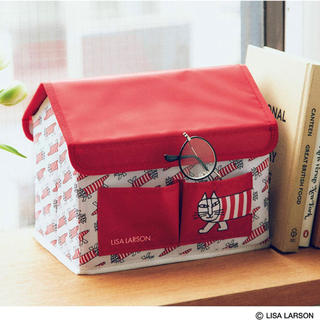 リサラーソン(Lisa Larson)のリンネル 5月号 付録 LISA LARSON マイキーのハウス形収納BOX(小物入れ)