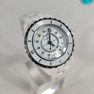 CHANEL - j12 腕時計 白 時計 超人気 メンズ レディース 送料無料