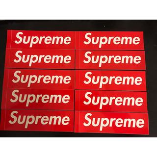 シュプリーム(Supreme)のsupreme boxロゴ ステッカー 10枚セット(ステッカー)