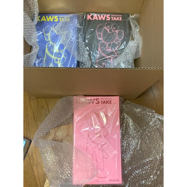 新品未開封 KAWS TAKE 3色 セット カウズ medicomtoy エンタメ/ホビーのフィギュア(その他)の商品写真