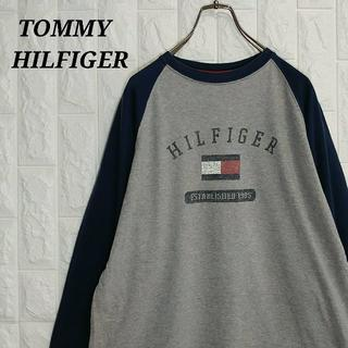 TOMMY HILFIGER - トミーヒルフィガー 90s ロンT 長袖 ベースボールシャツ ラグラン