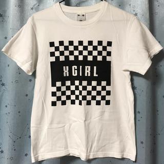 X-girl - チェッカー柄 Tシャツ